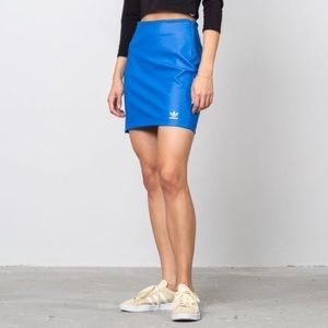 Adidas Leather Blue Skirt